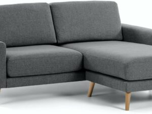Narnia, Sofa med chaiselong by LaForma (H: 88 cm. B: 192 cm. L: 160 cm., Sort/Natur)